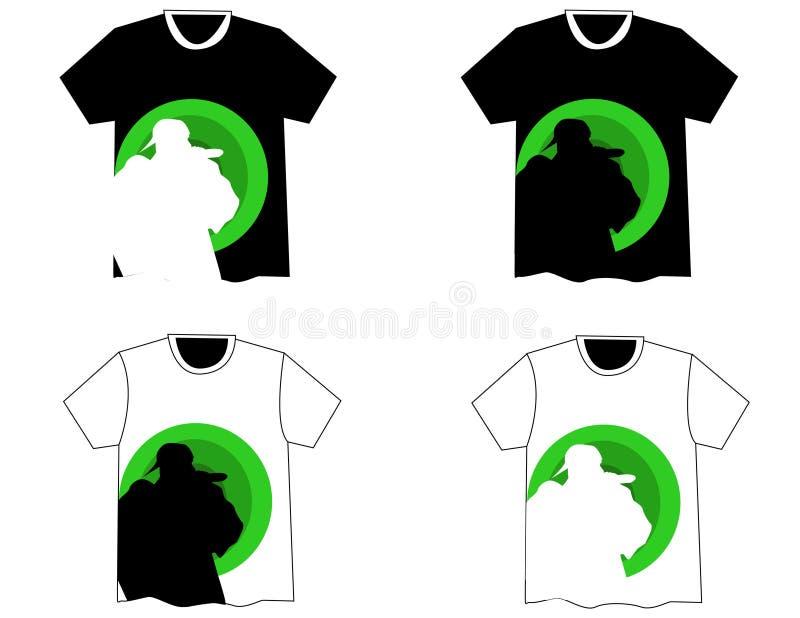 Quadril bonito h do t-shirt do vetor ilustração stock
