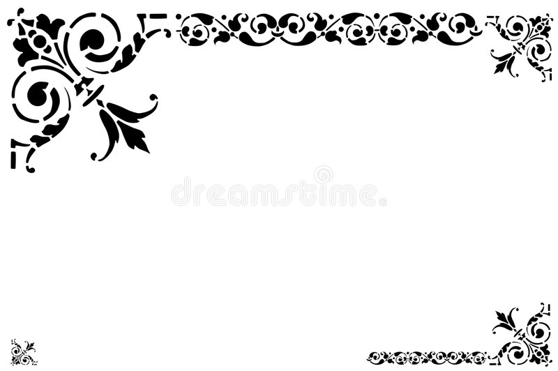 Quadro ilustração stock