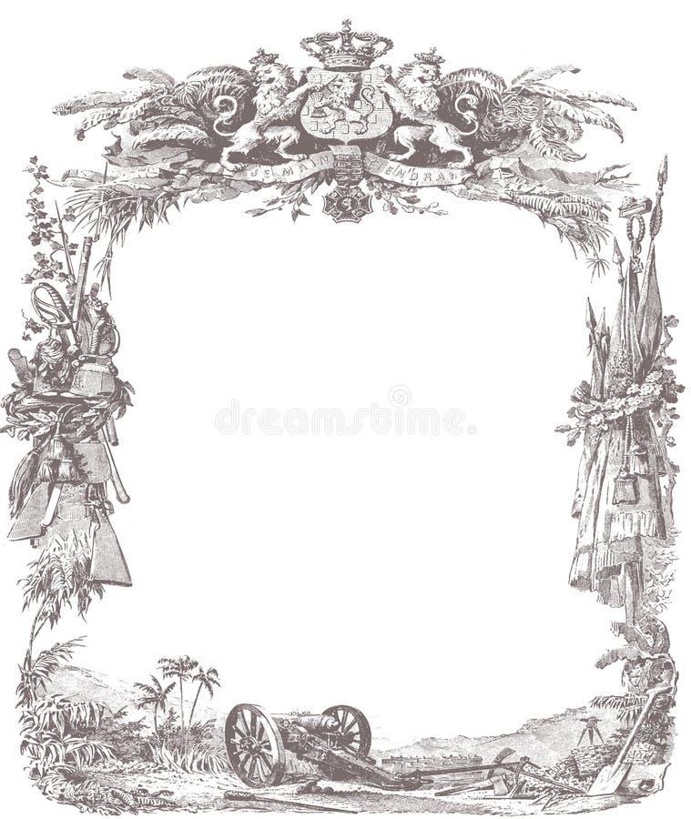 Quadro ilustração do vetor