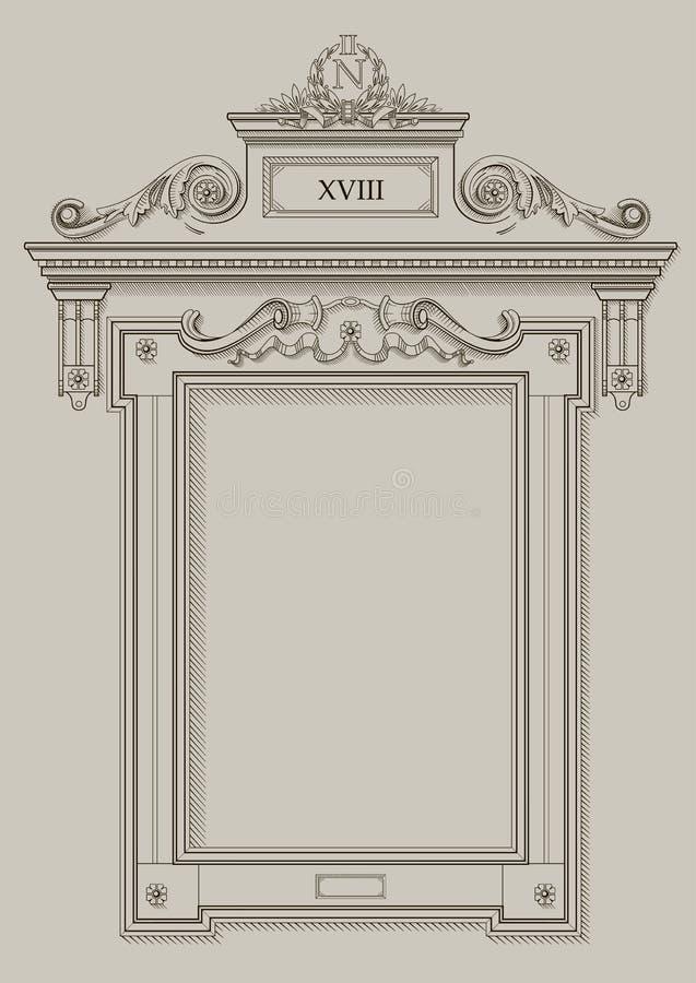 Quadro a abertura da parede ilustração do vetor