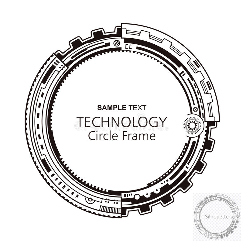 Quadro abstrato circular da tecnologia ilustração stock