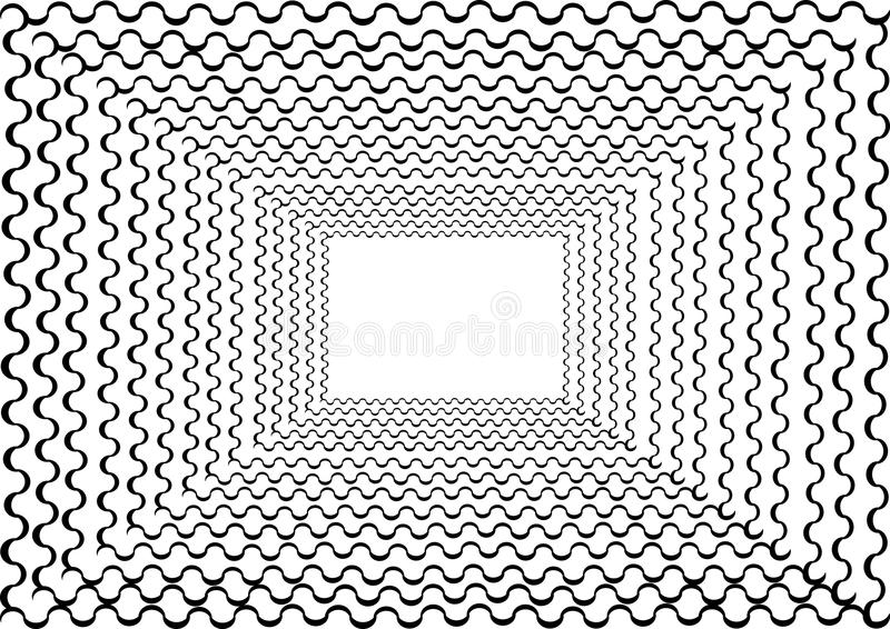 Quadro abstrato do túnel com linha encaracolado ao redor ilustração royalty free