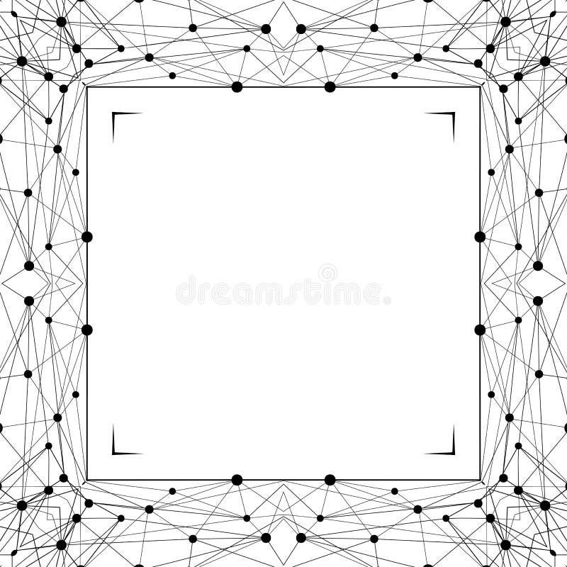 Quadro abstrato geométrico Linha gráfica elemento do molde Fundo decorativo do wireframe ilustração royalty free