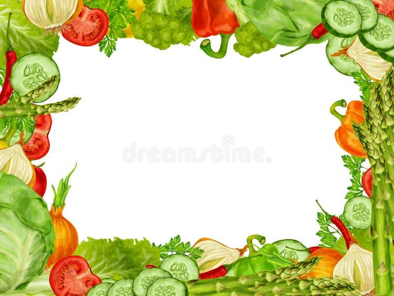 Quadro ajustado vegetais ilustração do vetor. Ilustração de capsicum ...