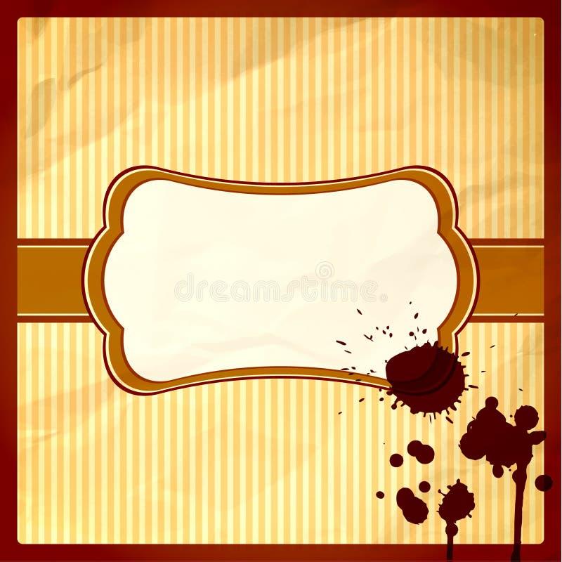 Quadro amarrotado com gotas de chocolate ilustração do vetor