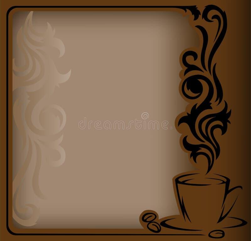 Quadro antigo do café ilustração stock