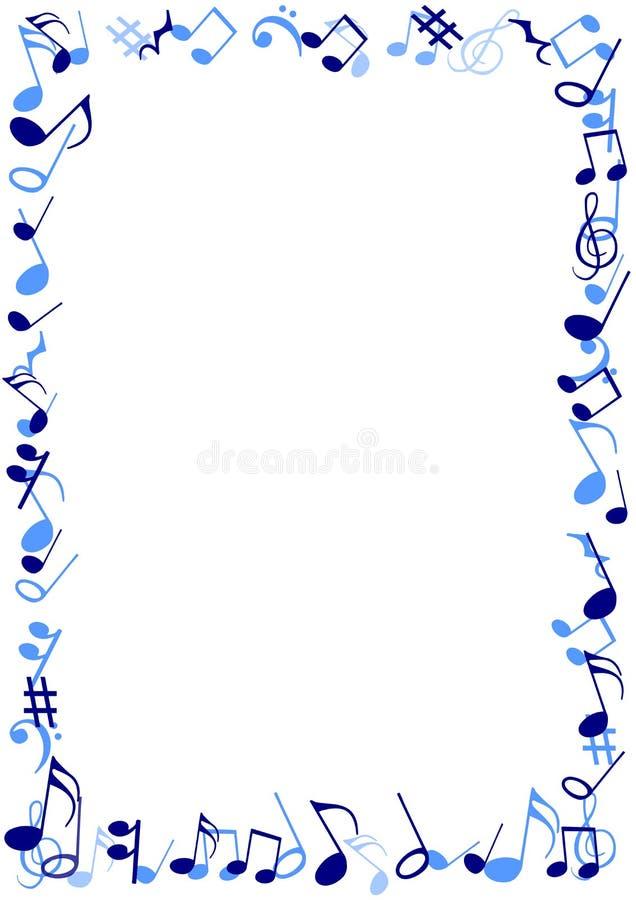 Quadro azul da música ilustração royalty free