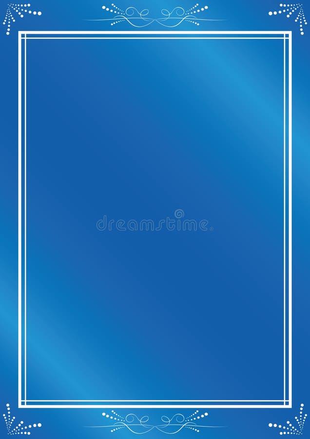 Quadro azul do vetor elegante com inclinação ilustração royalty free