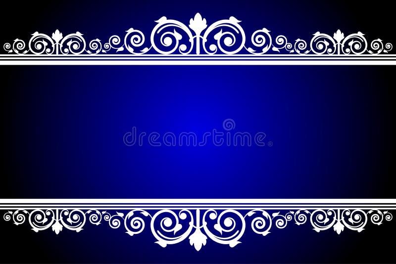 Quadro azul e branco ilustração stock