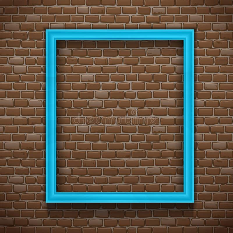 Quadro azul na parede ilustração royalty free