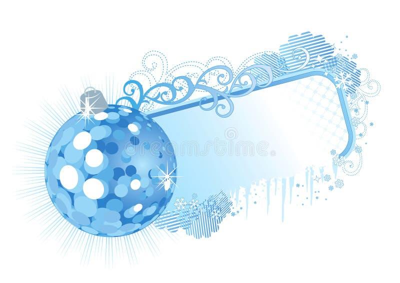 Quadro/azul/vetor do Natal ilustração stock
