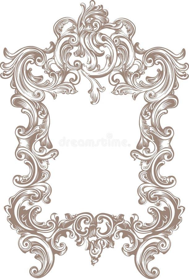 Quadro barroco ilustração stock