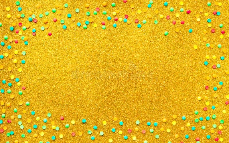 Quadro bonito com confetes coloridos ilustração royalty free