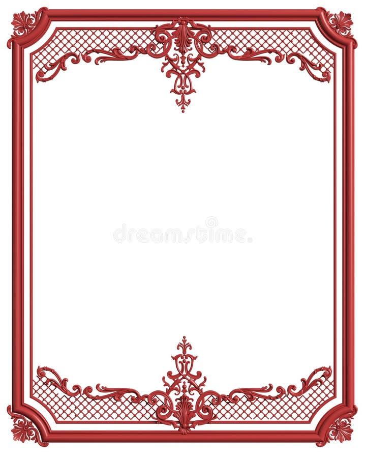Quadro branco moldando do clássico com a decoração do ornamento para o int clássico ilustração do vetor