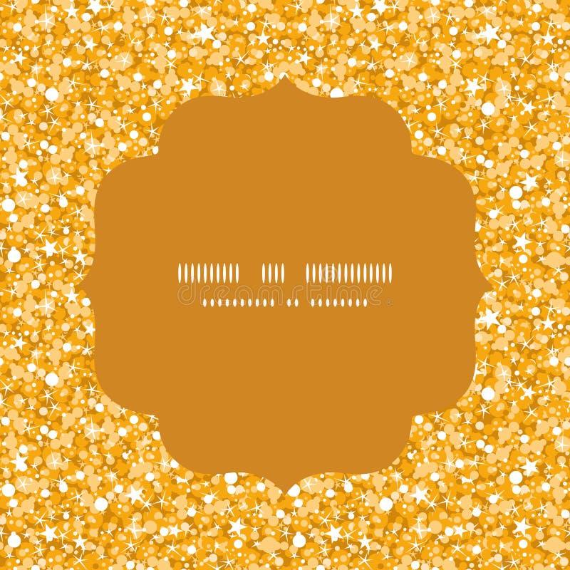 Quadro brilhante dourado do círculo da textura do brilho do vetor ilustração do vetor