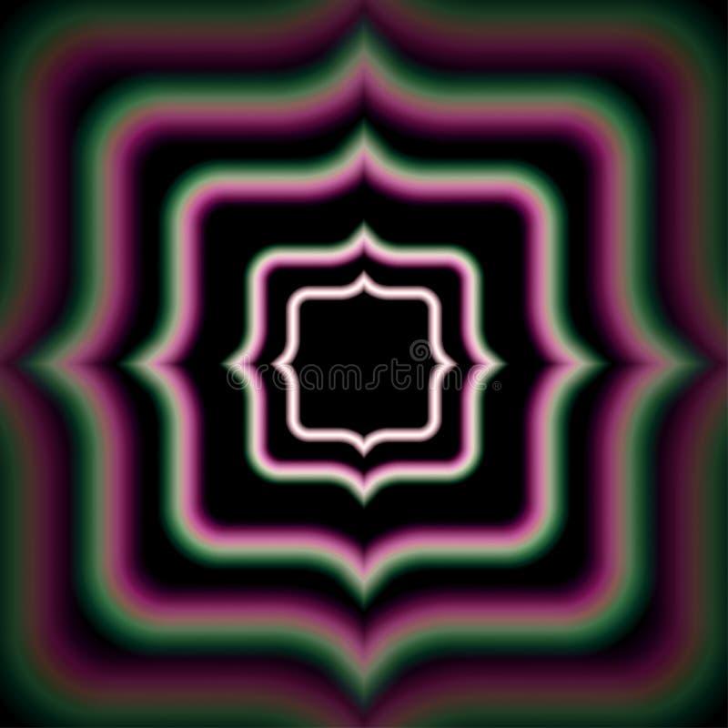 Quadro brilhante místico do vintage ilustração do vetor