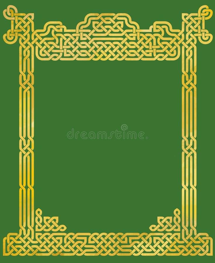 Quadro celta elegante do nó ilustração stock