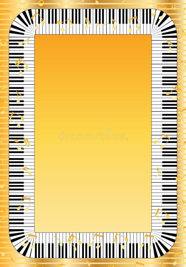 Quadro chave do piano ilustração stock