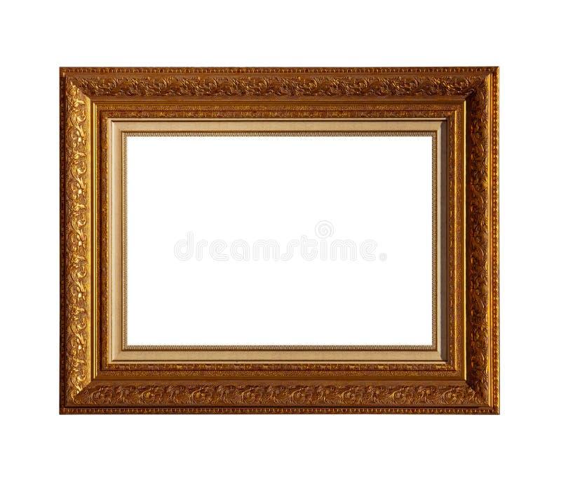 Quadro clássico dourado da lona de pintura imagem de stock