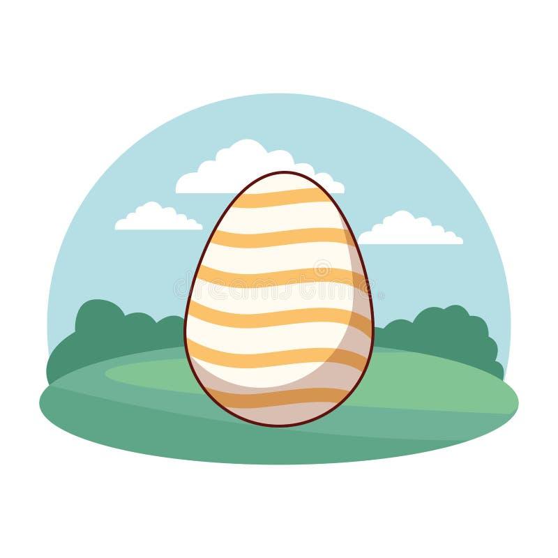 Quadro colorido do c?rculo do fundo da natureza da celebra??o do ovo da p?scoa ilustração royalty free
