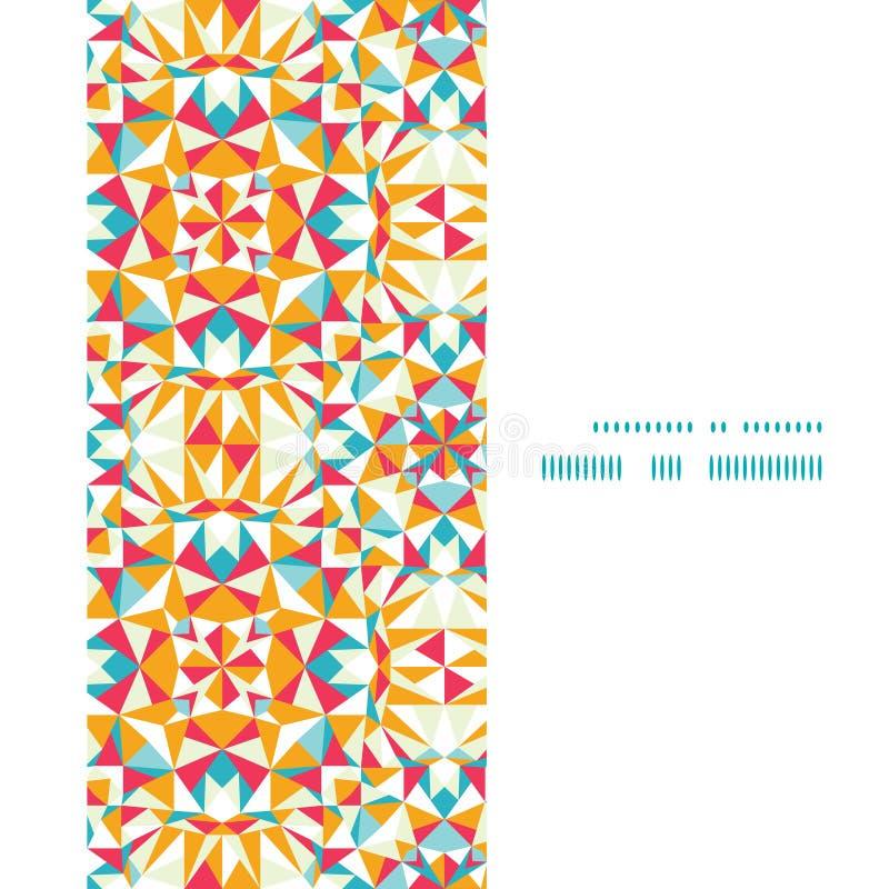 Quadro colorido do vertical da textura do triângulo do vetor ilustração do vetor