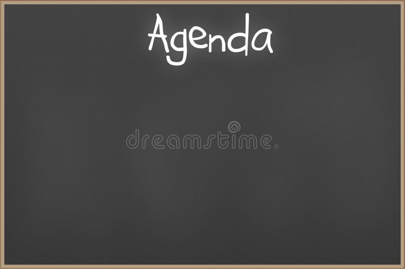 Quadro com agenda do texto ilustração do vetor