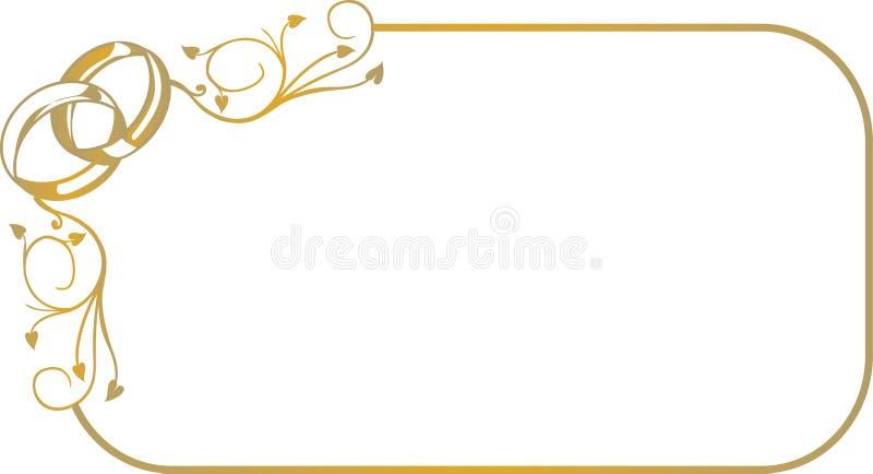 Quadro com anéis de casamento foto de stock royalty free