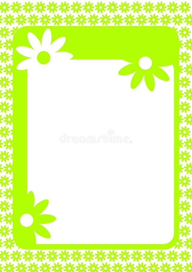 Quadro com beira das flores ilustração do vetor