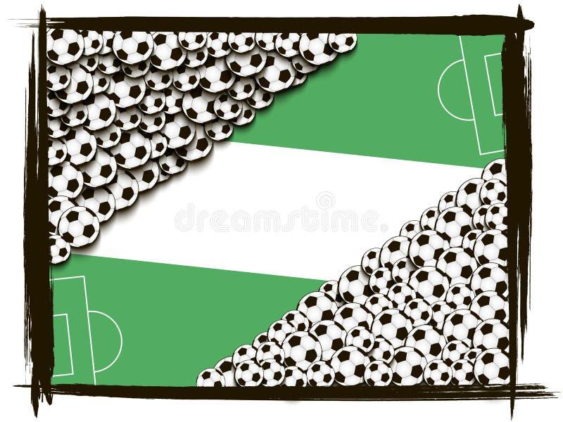 Download Quadro Com Bolas De Futebol Ilustração do Vetor - Ilustração de objeto, fundo: 65577963