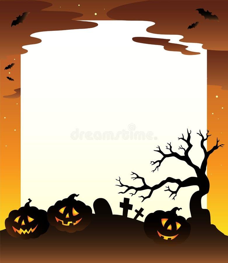 Quadro com cenário 1 de Halloween ilustração do vetor