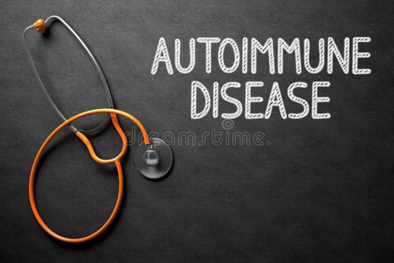 Quadro com conceito da doença autoimune ilustração 3D imagens de stock