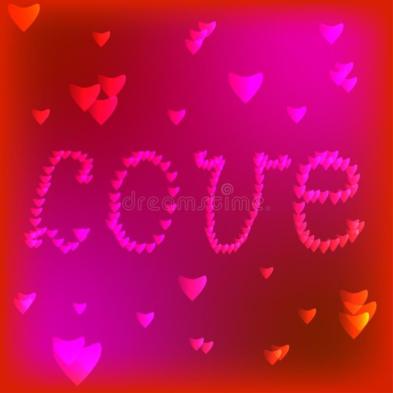 Quadro com coração vermelho valentine ilustração stock