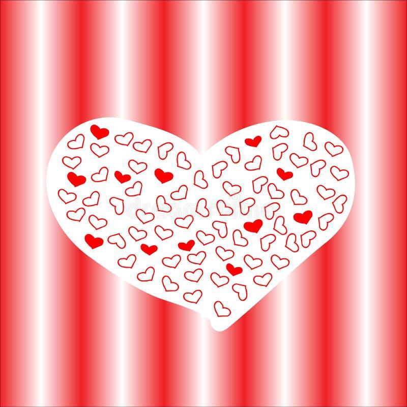 Quadro com coração vermelho valentine ilustração do vetor