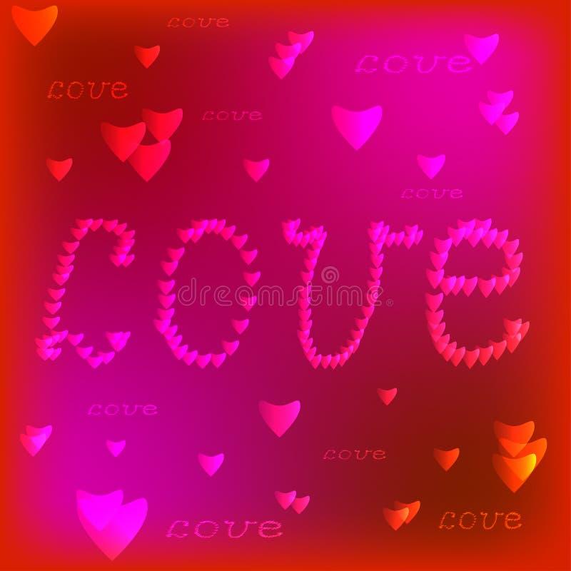 Quadro com coração vermelho valentine ilustração royalty free