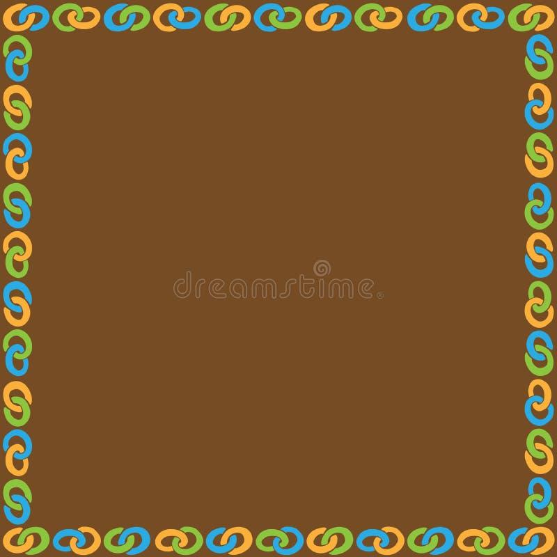 Quadro com a corrente colorida do anel fotografia de stock royalty free