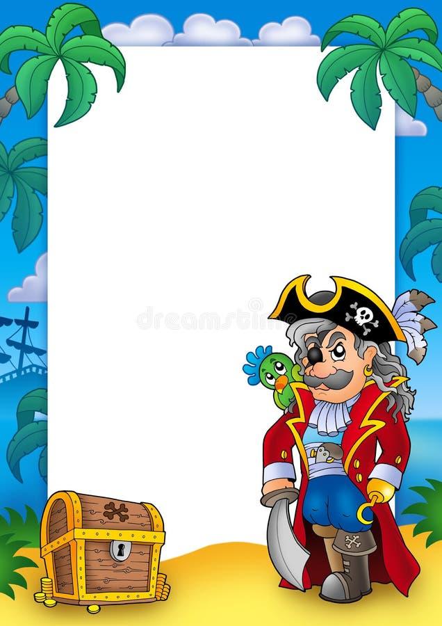 Quadro com corsair e a caixa nobres ilustração royalty free