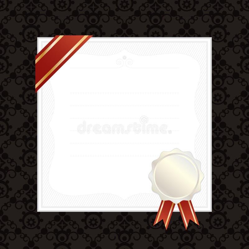 Quadro com fita e selo ilustração royalty free