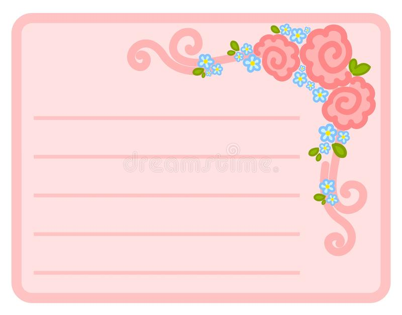 Quadro com flores ilustração royalty free