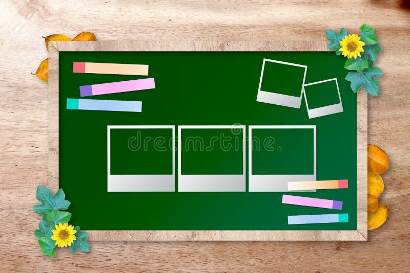 Quadro com frame da foto ilustração do vetor