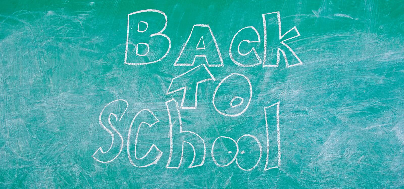 Quadro com inscri??o de volta ? escola Tempo de setembro de volta a estudar e a obter a educa??o Parte traseira da propaganda ilustração do vetor