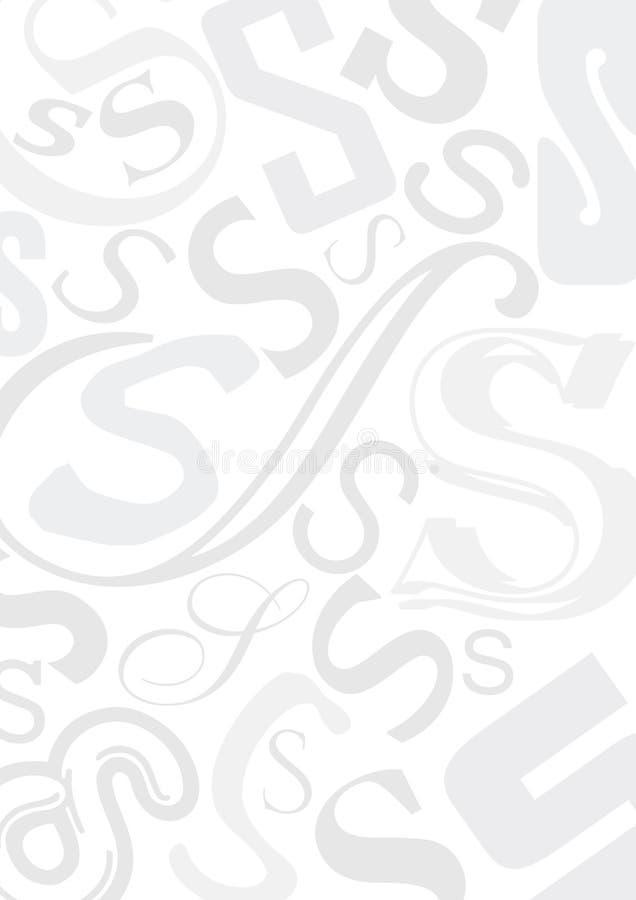 Quadro com letra S ilustração royalty free