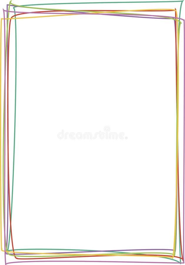 Quadro com linhas coloridas ilustração royalty free