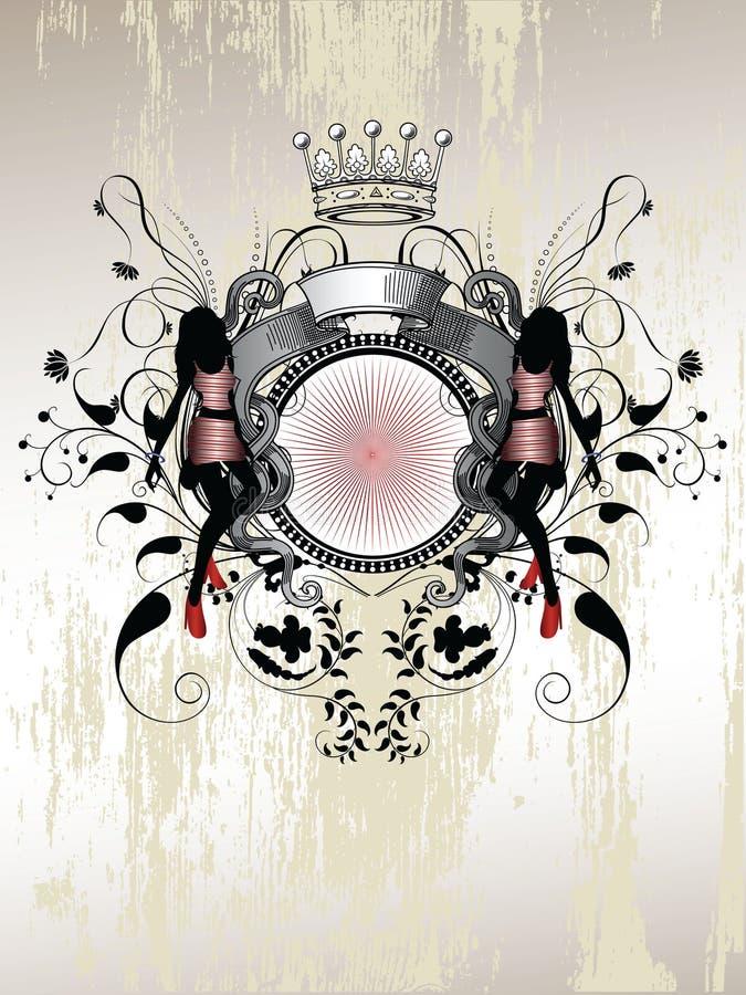 Quadro com mulher ilustração royalty free
