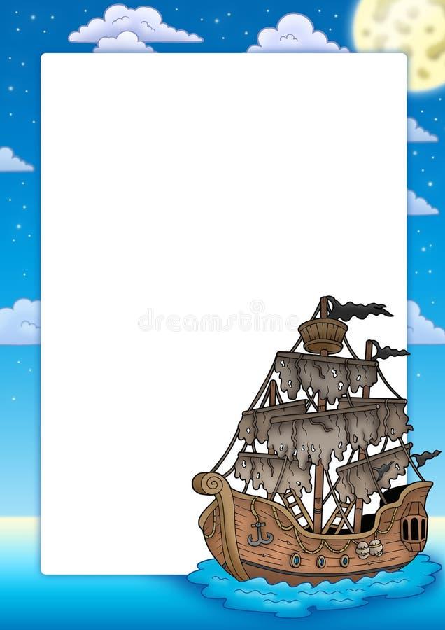 Quadro com navio misterioso ilustração stock