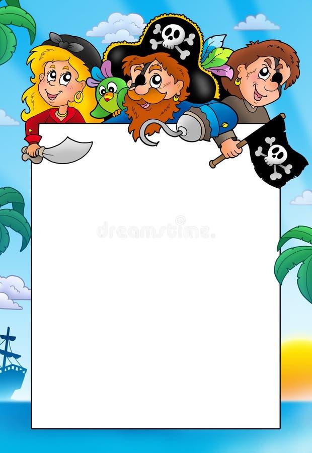 Quadro com os três piratas dos desenhos animados