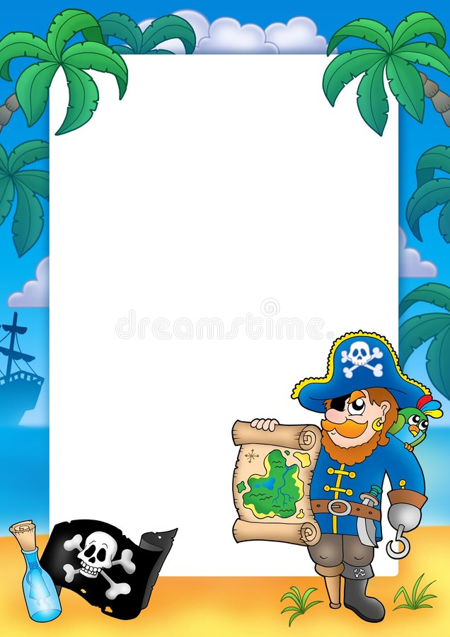 Quadro com pirata 2 ilustração stock