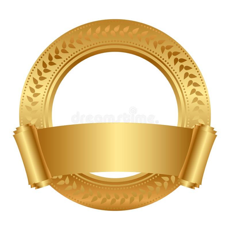 Quadro com rolo do ouro ilustração royalty free