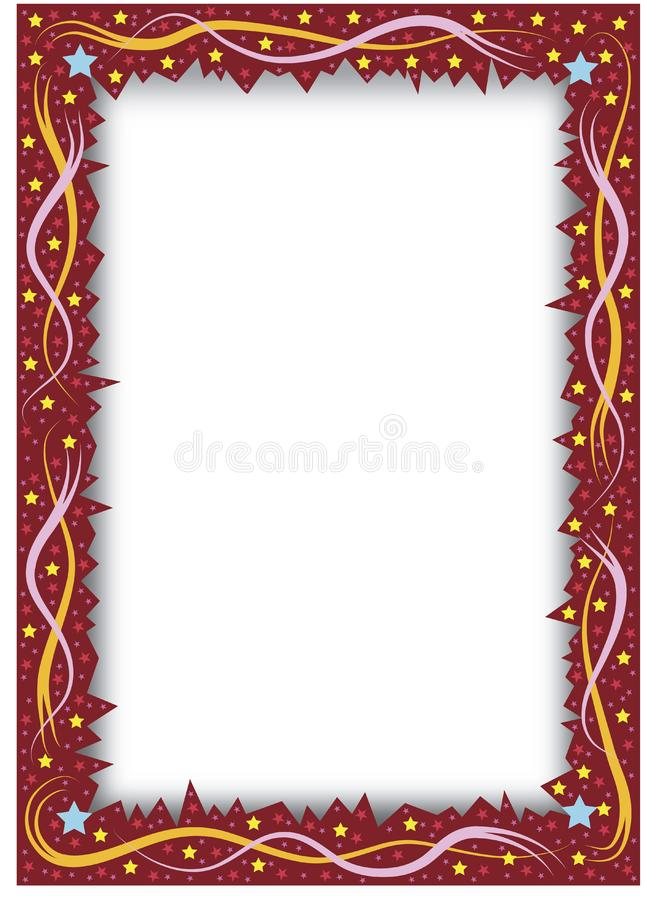 Quadro com starborder entalhado ilustração stock