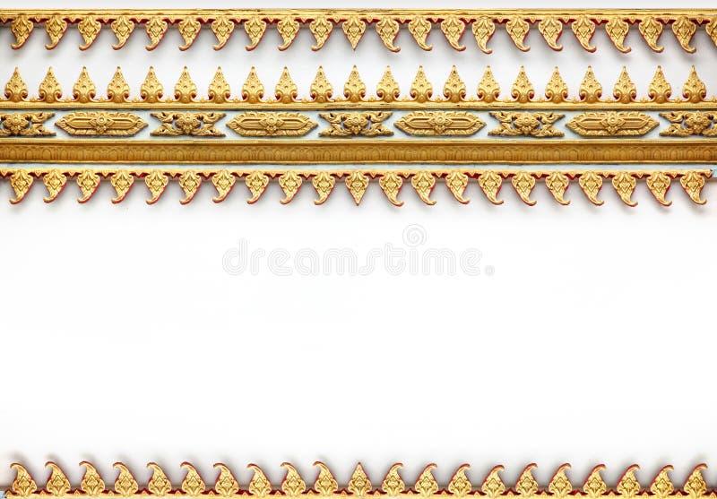 Quadro com teste padrão tailandês da parede da arte foto de stock
