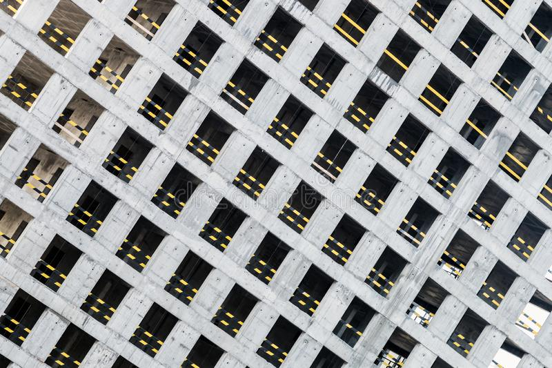 Quadro concreto monolítico da construção nova fotos de stock royalty free